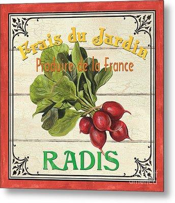 French Vegetable Sign 1 Metal Print by Debbie DeWitt