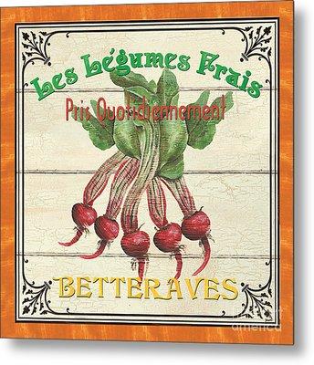 French Vegetable Sign 4 Metal Print by Debbie DeWitt