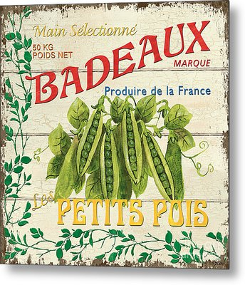 French Veggie Sign 1 Metal Print