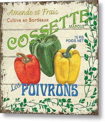French Veggie Sign 4 Metal Print by Debbie DeWitt