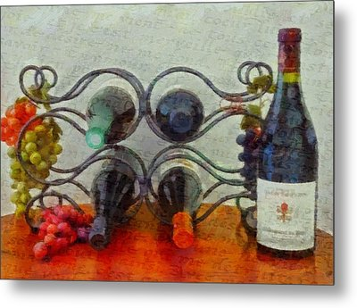 French Wine Rack Metal Print by Dan Sproul