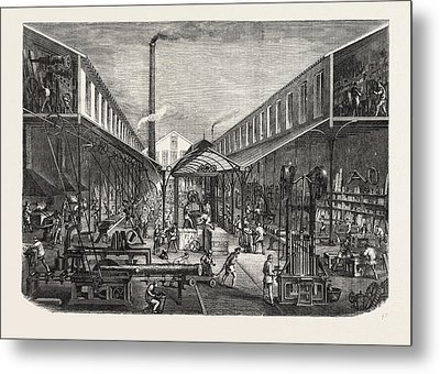 French Workshops Messrs. F Metal Print by French School