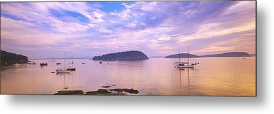 Frenchman Bay, Bar Harbor, Maine, Usa Metal Print by Panoramic Images