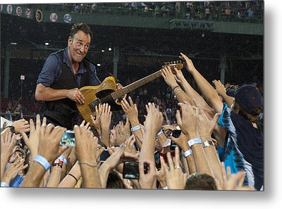 Frenzy At Fenway Metal Print by Jeff Ross