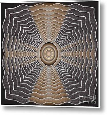 Metal Print featuring the digital art Frenzy by Iris Gelbart