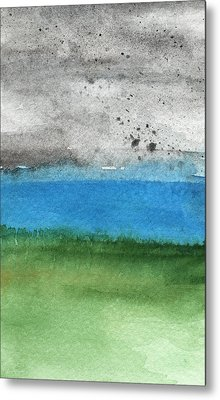 Fresh Air- Landscape Painting Metal Print by Linda Woods