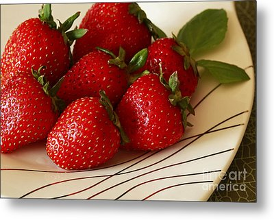 Fresh Berries Metal Print by Inspired Nature Photography Fine Art Photography