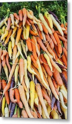 Fresh Carrots Background Metal Print