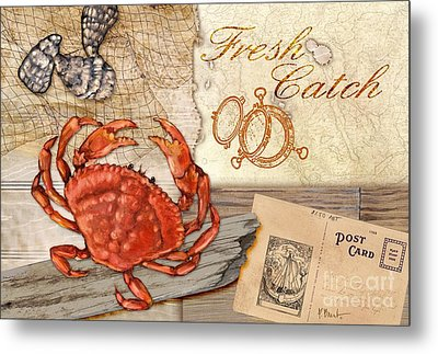 Fresh Catch Dungeness Crab Metal Print by Paul Brent
