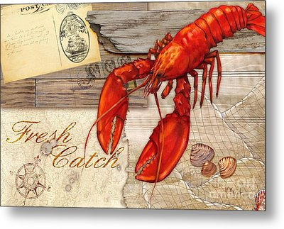 Fresh Catch Lobster Metal Print by Paul Brent