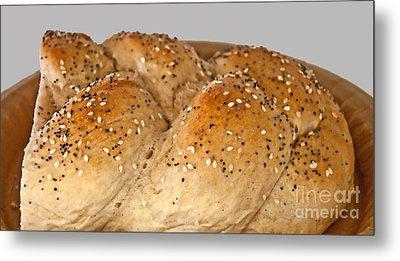 Fresh Challah Bread Art Prints Metal Print by Valerie Garner