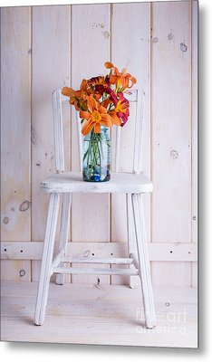 Fresh Day Lilly Flowers  Metal Print by Edward Fielding