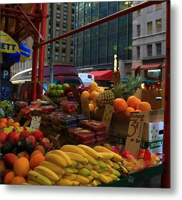 Fresh Farmer's Market Fruit And Vegetables Metal Print by Dan Sproul