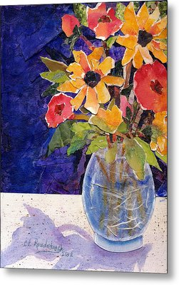 Fresh Flowers Metal Print by Cynthia Roudebush