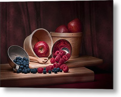 Fresh Fruits Still Life Metal Print by Tom Mc Nemar
