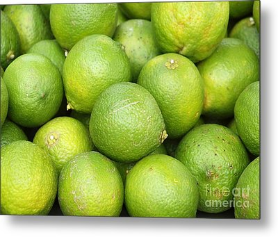 Fresh Green Lemons Metal Print by Yali Shi