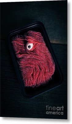Fresh Ground Zombie Meat - Its What's For Dinner Metal Print by Edward Fielding