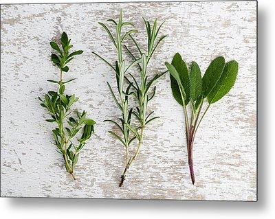 Fresh Herbs Metal Print by Nailia Schwarz