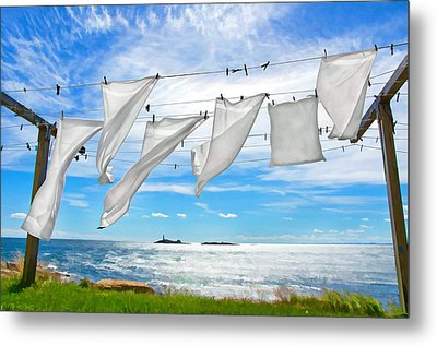 Fresh Laundry Metal Print by Donna Doherty