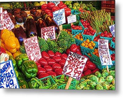 Fresh Market Vegetables Metal Print by Andrea Auletta