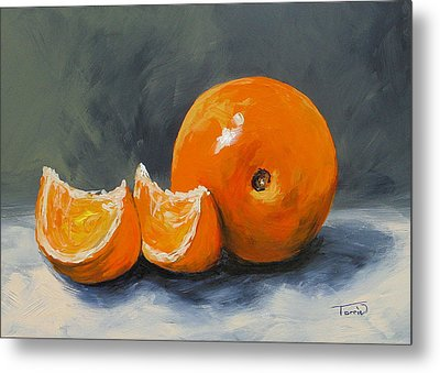 Fresh Orange IIi Metal Print by Torrie Smiley