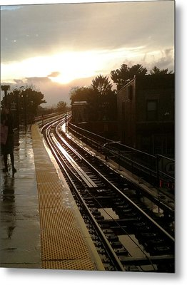 Fresh Pond Rd Station Metal Print