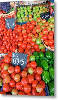 Fresh Produce, Mercado Do Bolhao Metal Print by Susan Degginger