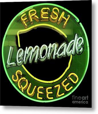 Fresh Squeezed Lemonade Metal Print