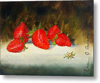 Fresh Strawberries Metal Print by Dan Redmon