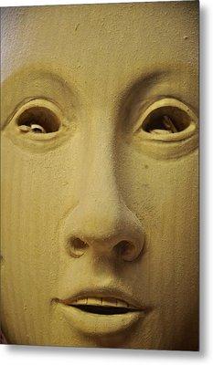 Freshly Carved Face Metal Print