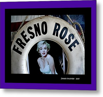 Fresno Rose 2007 Metal Print by Joseph Coulombe