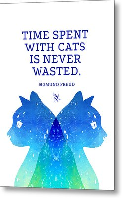 Freud Metal Print by Randoms Print
