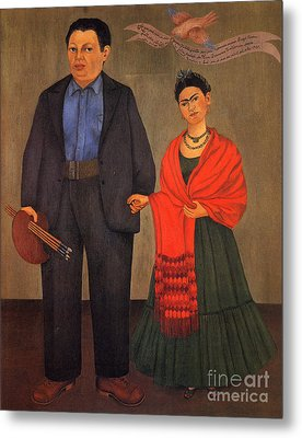 Frida Kahlo And Diego Rivera 1931 Metal Print