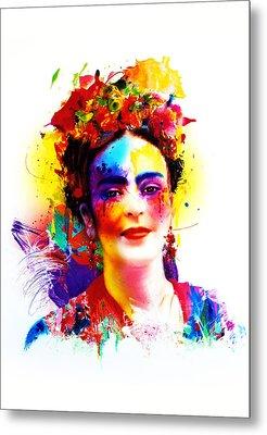 Frida Kahlo Metal Print by Isabel Salvador