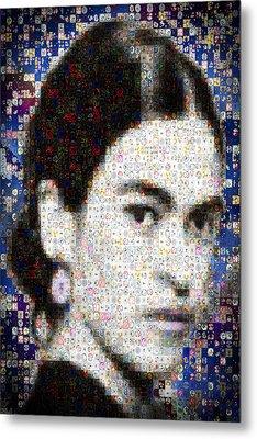 Frida Kahlo Mosaic Metal Print