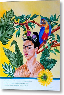 Frida Kahlo Metal Print by Thomas Gronowski