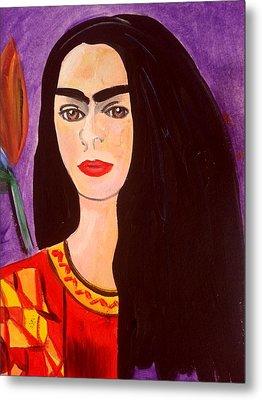 Frida Kahlo Young Metal Print