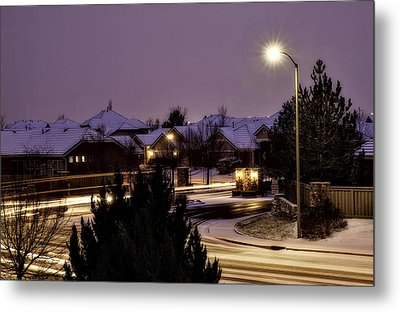 Metal Print featuring the photograph Friday Night Lights by Nancy Marie Ricketts