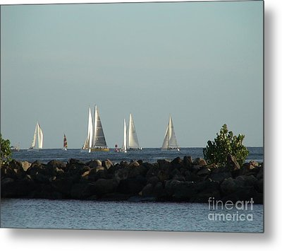 Friday Night Races Metal Print