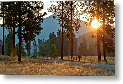 Metal Print featuring the photograph Friday Rise Time by Julia Hassett