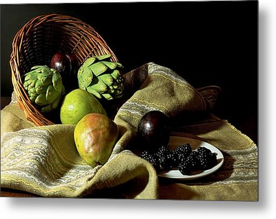 Friday's Basket Metal Print by Diana Angstadt