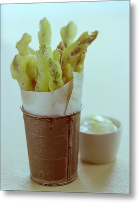 Fried Asparagus Metal Print