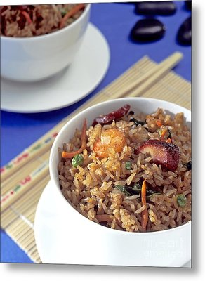 Fried Rice Metal Print by Tim Hester