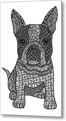 Friend - Boston Terrier Metal Print