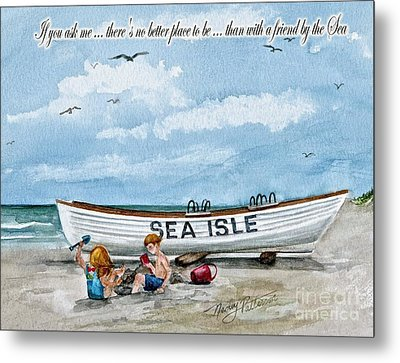 Friends By The Sea  Metal Print