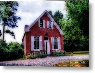 Friends Meeting House Metal Print by Skip Willits