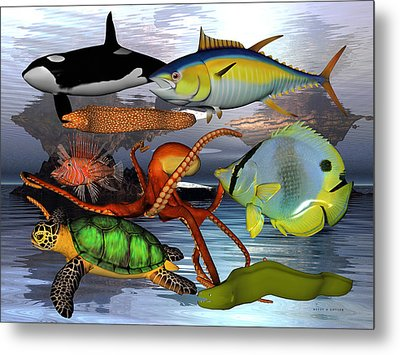 Friends Of The Sea Metal Print by Betsy Knapp