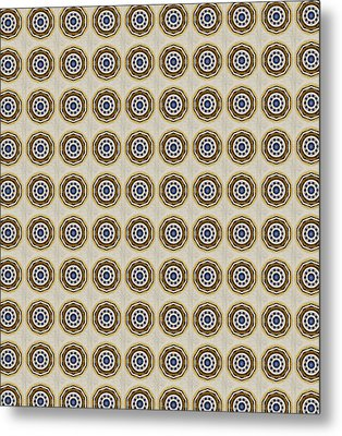 Friendship Pattern Small Metal Print