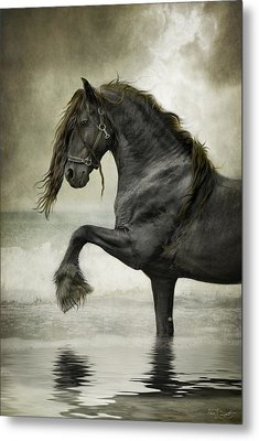 Friesian Surf  Metal Print by Fran J Scott