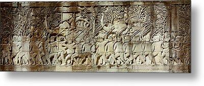 Frieze, Angkor Wat, Cambodia Metal Print by Panoramic Images